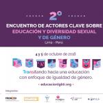 Segundo encuentro de actores clave sobre educación con enfoque de diversidad sexual y de género