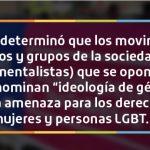 """ONU advierte que grupos religiosos y sociales que se oponen a la """"ideología de género"""" son amenazantes para los Derechos Humanos"""