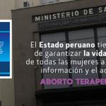 Nota de prensa – El aborto terapéutico es y seguirá siendo legal